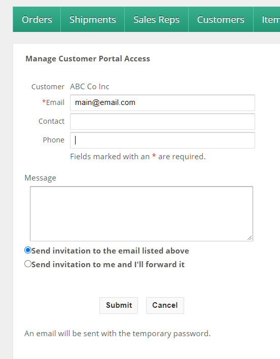 Manage Customer Portal Access