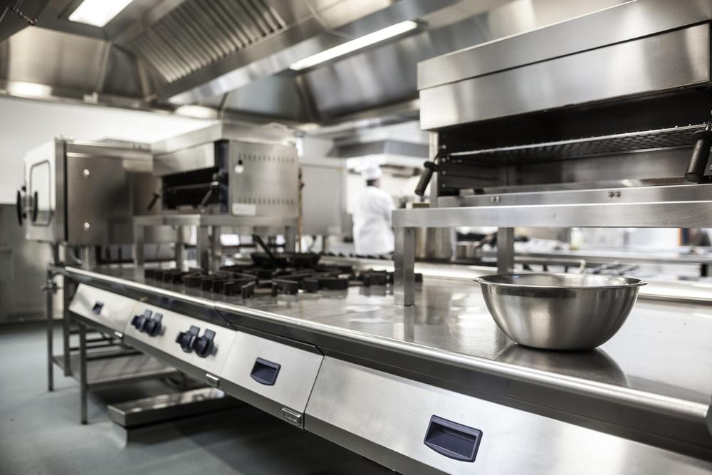 Work surface and kitchen equipment in professional kitchen.jpeg